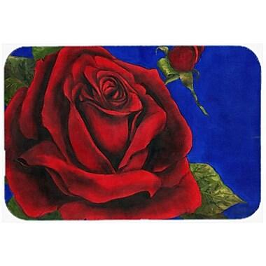 Caroline's Treasures Rose Glass Cutting Board