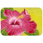 Caroline's Treasures Hot Pink Hibiscus Glass Cutting Board