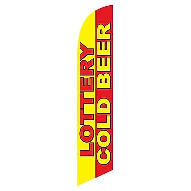 NeoPlex Lottery/Cold Beer Deluxe Swooper Flag