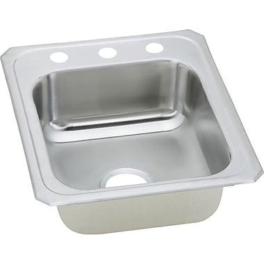 Elkay Gourmet 21.25'' x 17'' Top Mount Kitchen Sink; 1 Hole