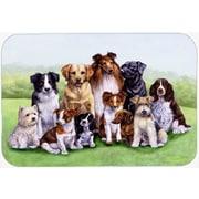 Caroline's Treasures Springtime Dogs Glass Cutting Board
