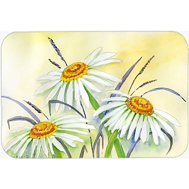 Caroline's Treasures Daisies Glass Cutting Board