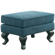 EnitialLab Mareena Traditional Ottoman; Dark Teal