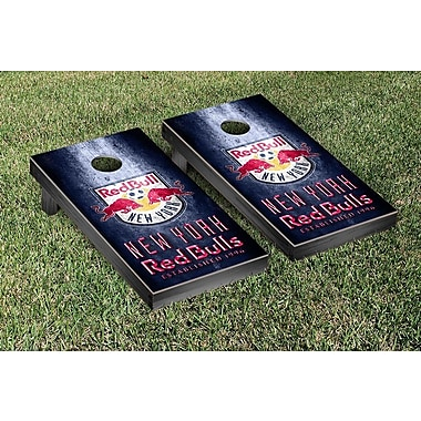 Victory Tailgate MLS Metal Version Cornhole Game Set; New York Red Bulls