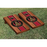 Victory Tailgate MLS Rosewood Stained Stripe Version Cornhole Game Set; Atlanta United FC