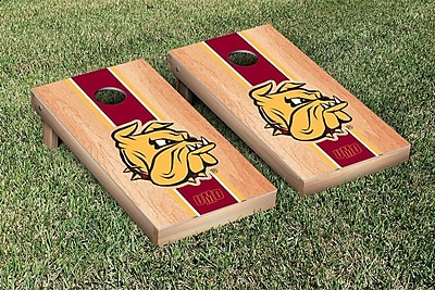 Victory Tailgate NCAA Hardcourt Striped Version Cornhole Game Set; Minnesota Duluth Bulldogs