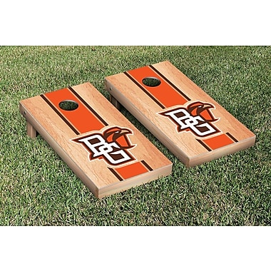 Victory Tailgate NCAA Hardcourt Striped Version Cornhole Game Set; Bowling Green State Falcons