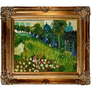 Wildon Home   The Garden of Daubigny by Vincent Van Gogh Framed Painting