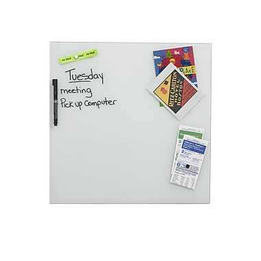 Better Houseware Magnetic Glass Board, 13.75'' H x 13.75'' W; White