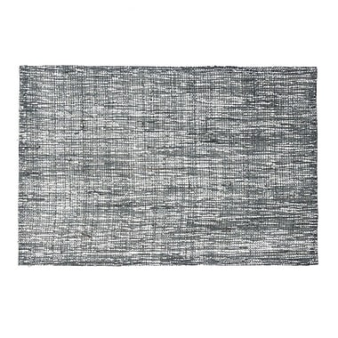 Linen Tablecloth Shimmer Placemat (Set of 2); Charcoal