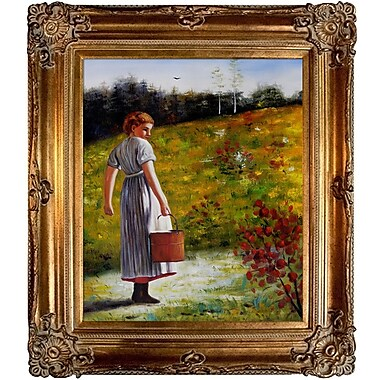 Tori Home Returning From The Spring by Winslow Homer Framed Painting