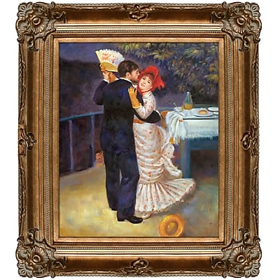 Tori Home Dance in The Country by Pierre-Auguste Renoir Framed Painting
