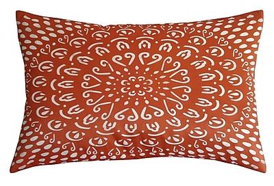 Edie Inc. Laser Tile Lumbar Pillow; Orange/Cream