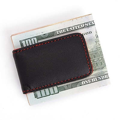 Royce Leather Magnetic Money Clip (810-RED-BLK-5)