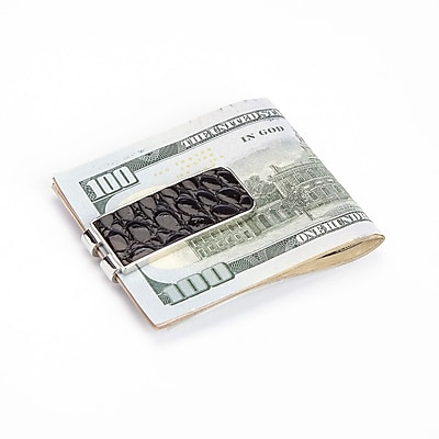 Royce Leather Luxury Alligator Money Clip (816-BLACK-ALG)