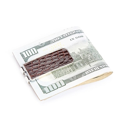 Royce Leather Luxury Alligator Money Clip (816-BROWN-ALG)