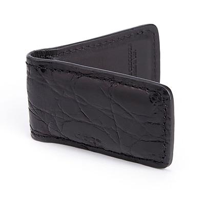 Royce Leather Luxury Magnetic Money Clip Wallet (817-BLACK-CR)