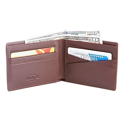 Royce Leather Men's Slim Bifold Wallet with RFID Blocking Technology(RFID-100-COCO-5)