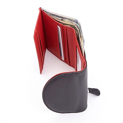 Royce Leather RFID Blocking Women's Compact Trifold Wallet(RFID-142-MR-5)