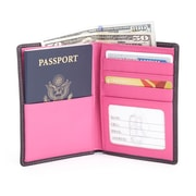 Royce Leather RFID Blocking Bifold Passport Currency Travel Wallet (RFID-222-BLWB-5)