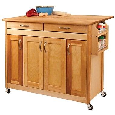 Catskill Craftsmen Kitchen Island w/ Wood Top