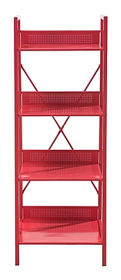 Sunjoy Rectangular Plant Stand; Red