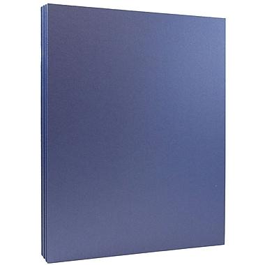JAM Paper® - Papier métallique Stardream 32 lb, 8,5 x 11 po, bleu saphir, paq./100