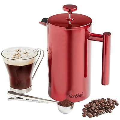 VonShef Double Wall Stainless Steel French Press Coffee Maker WYF078279158367