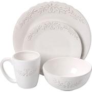 Design Guild Bianca Laurel 16 Piece Dinnerware Set, Service for 4