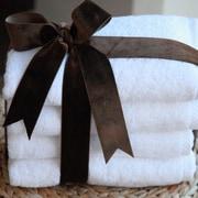 Linum Home Textiles Soft Twist 100pct Turkish Cotton Hand Towel (Set of 4); White