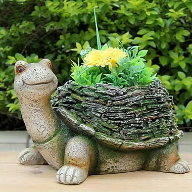 Sintechno Inc Wise Turtle w/ Moss Covered Shell Statue