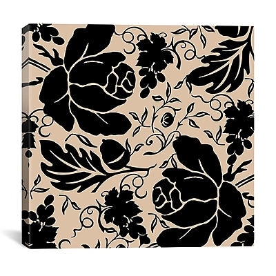 iCanvas Grapes and Buds by Mindy Sommers Graphic Art on Canvas in Black and Beige