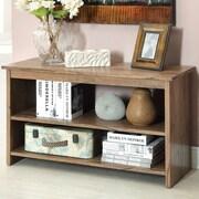 Hokku Designs Waldon Open Shelf Console Table; Rustic Oak
