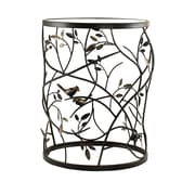 InnerSpace Luxury Products Large Barrel Table w/ Leaves and Removable Glass Top