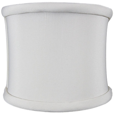Home Concept 4'' Linen Drum Wall Sconce Shade; Eggshell