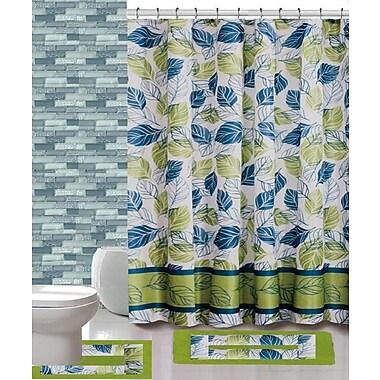 Daniels Bath 15 Piece Shower Curtain Set; Sophia