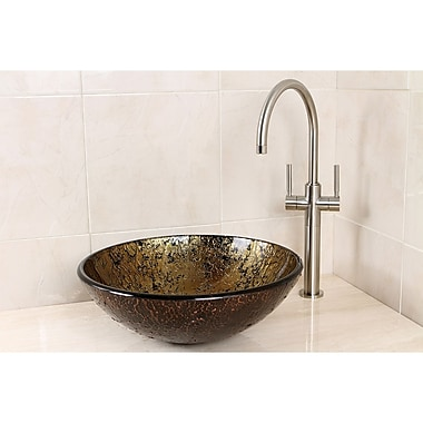 Kingston Brass Palermo Glass Circular Vessel Bathroom Sink