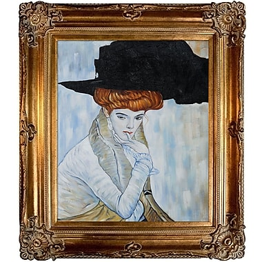 Tori Home Feather Hat by Gustav Klimt Framed Painting
