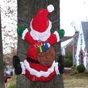 Evergreen Flag & Garden Splat, Santa Christmas Decoration
