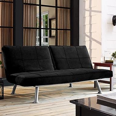 LifeStyle Solutions Serta Maxson Convertible Lounger Futon; Black