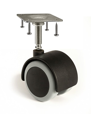 Slipstick 2'' Floor-Protecting Rubber Caster Wheel w/ Stem (Set of 4) WYF078278297217