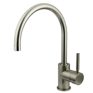 Kingston Brass Concord Single Handle Vessel Sink Faucet; Satin Nickel