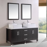 Kokols 60'' Double Bathroom Vanity Set w/ Mirror