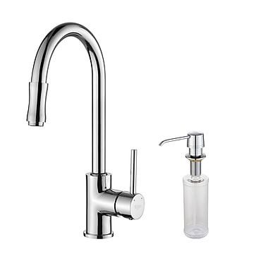 Kraus Pull Down Single Handle Kitchen Faucet; Chrome