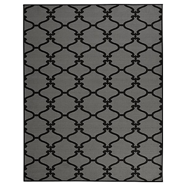 sweet home stores Clifton Dark Grey Area Rug; 7'10'' x 9'10''