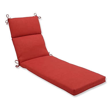 Pillow Perfect Rave Outdoor Chaise Lounge Cushion; Flame