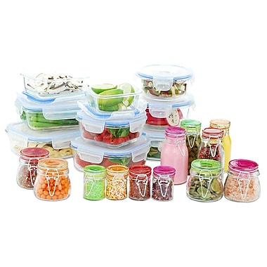 Kinetic Go Green Glassworks Elements 30-Piece Glass Food Storage Container Set