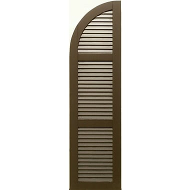 Shutters By Design Rockbridge Louvered Arch Top Shutter; 67'' H x 12'' W
