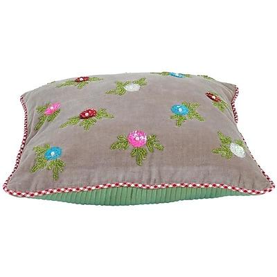 Heritage Lace PiP Studio Throw Pillow Cover; Khaki
