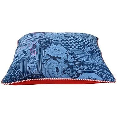 Heritage Lace PiP Studio Throw Pillow Cover; Denim